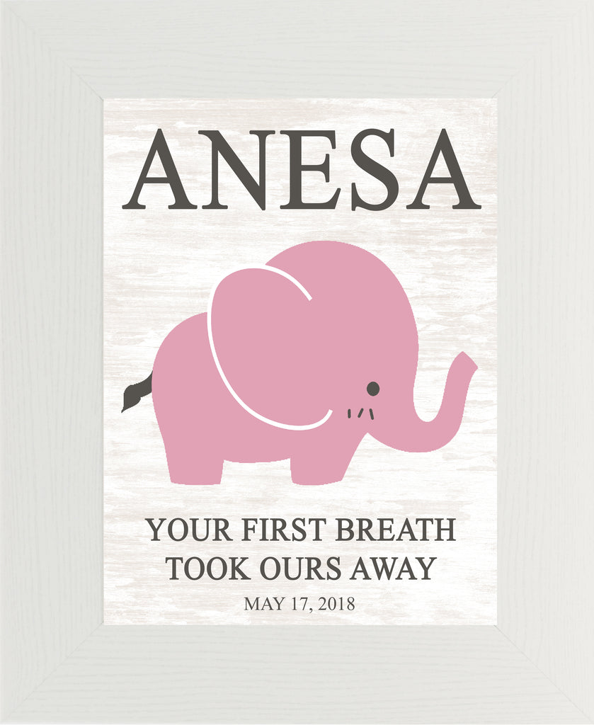 Your First Breath Took Ours Away Personalized PER149 - Summer Snow Art
