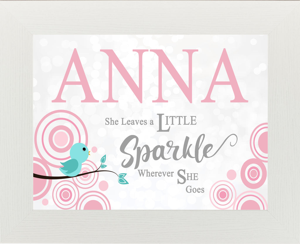 She Leaves a Little Sparkle Personalized PER152 - Summer Snow Art