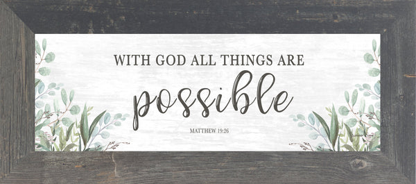 With God All Things are Possible by Summer Snow SS103620