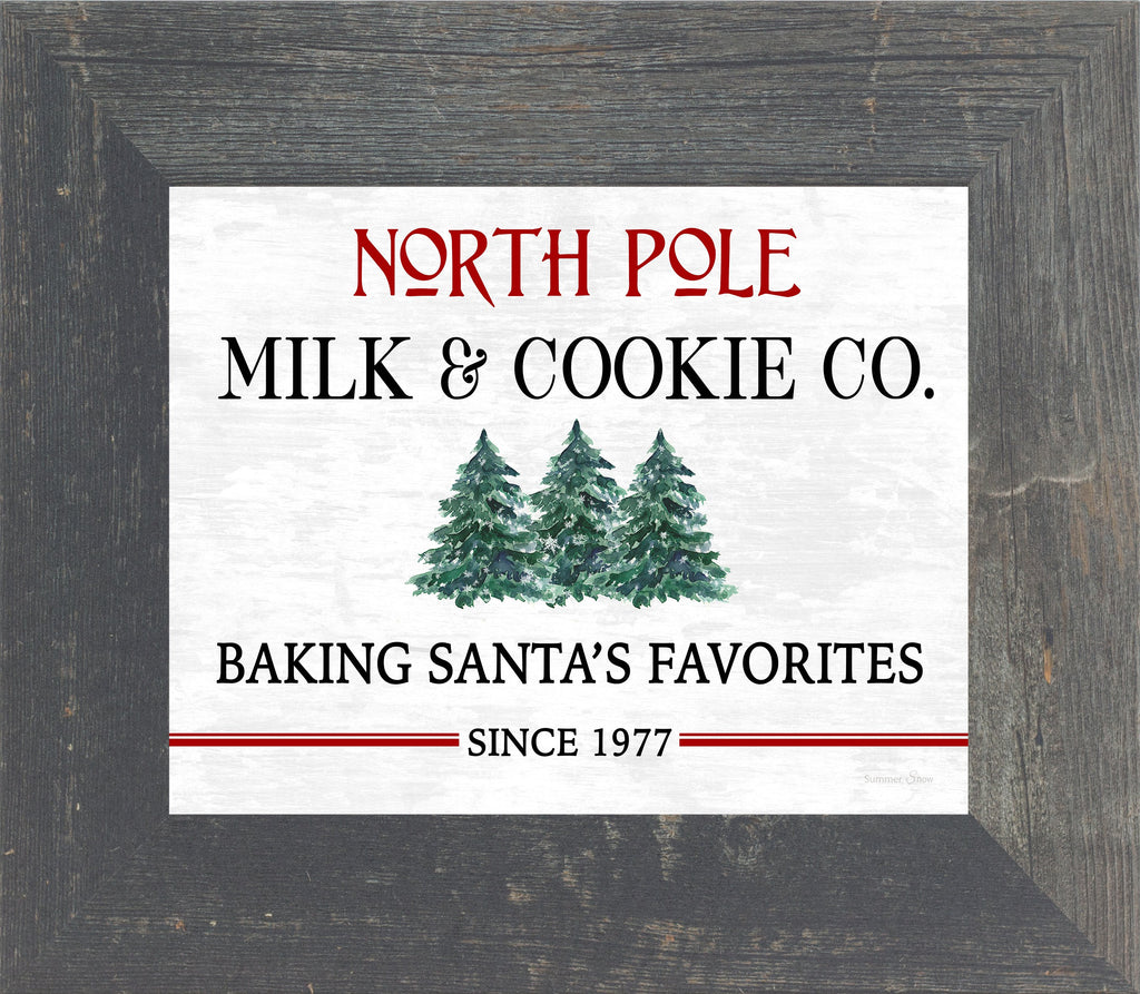 North Pole Milk and Cookie Co. by Summer Snow SS110 - Summer Snow Art