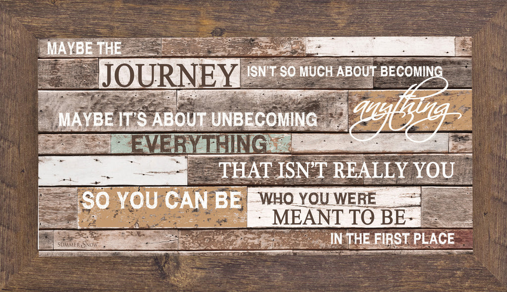 "Maybe The Journey GLITTERED 1"" Frame SS1553"