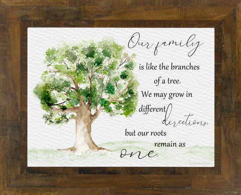 Our Family is Like the Branches of a Tree by Summer Snow SS172