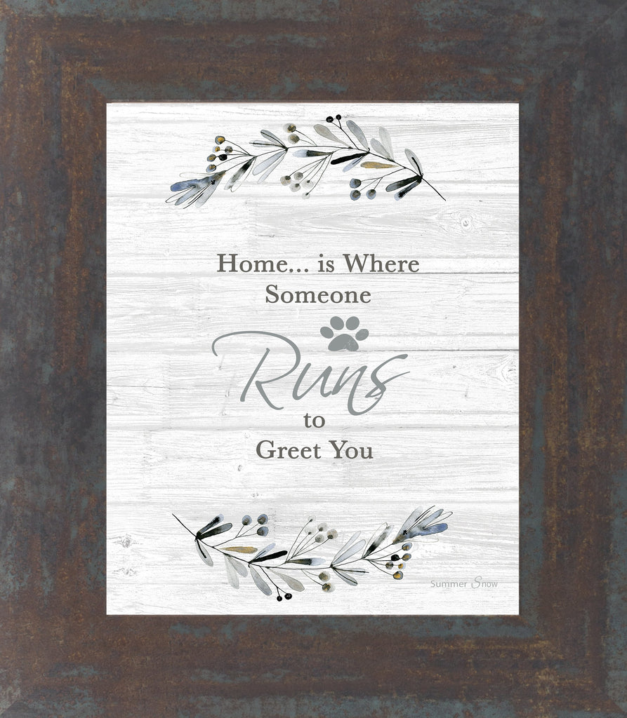 Home is Where Someone Runs to Greet You by Summer Snow SS22 - Summer Snow Art