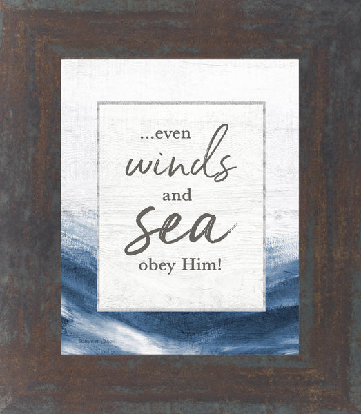 Even Winds and Sea Obey Him by Summer Snow SS39 - Summer Snow Art