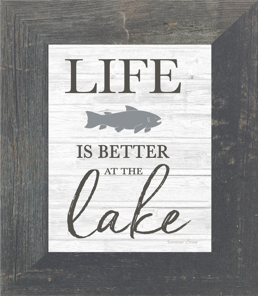 Life is Better at the Lake by Summer Snow SS43 - Summer Snow Art
