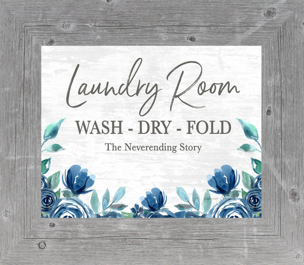 Laundry Room Wash Dry Fold by Summer Snow SS45 - Summer Snow Art