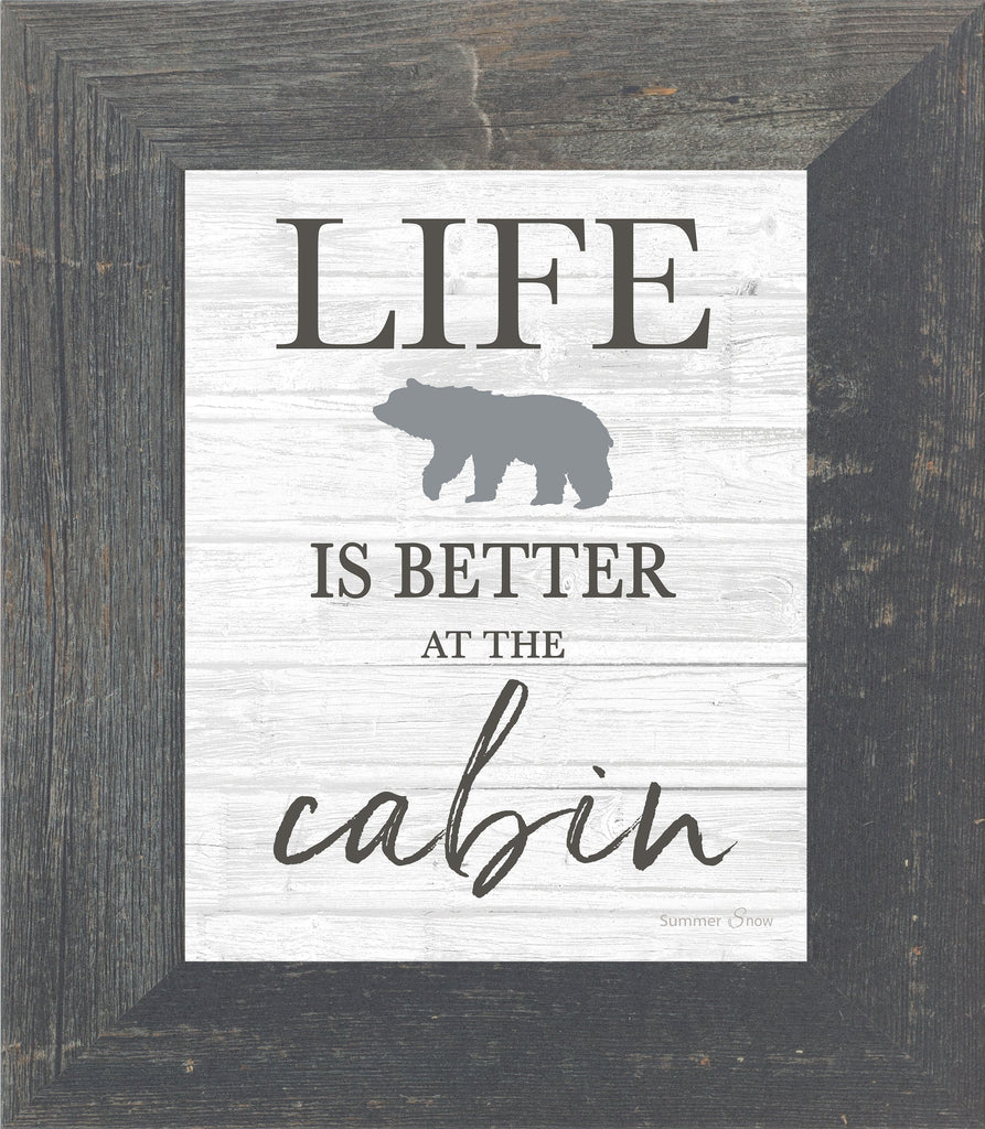 Life is Better at the Cabin by Summer Snow SS46 - Summer Snow Art