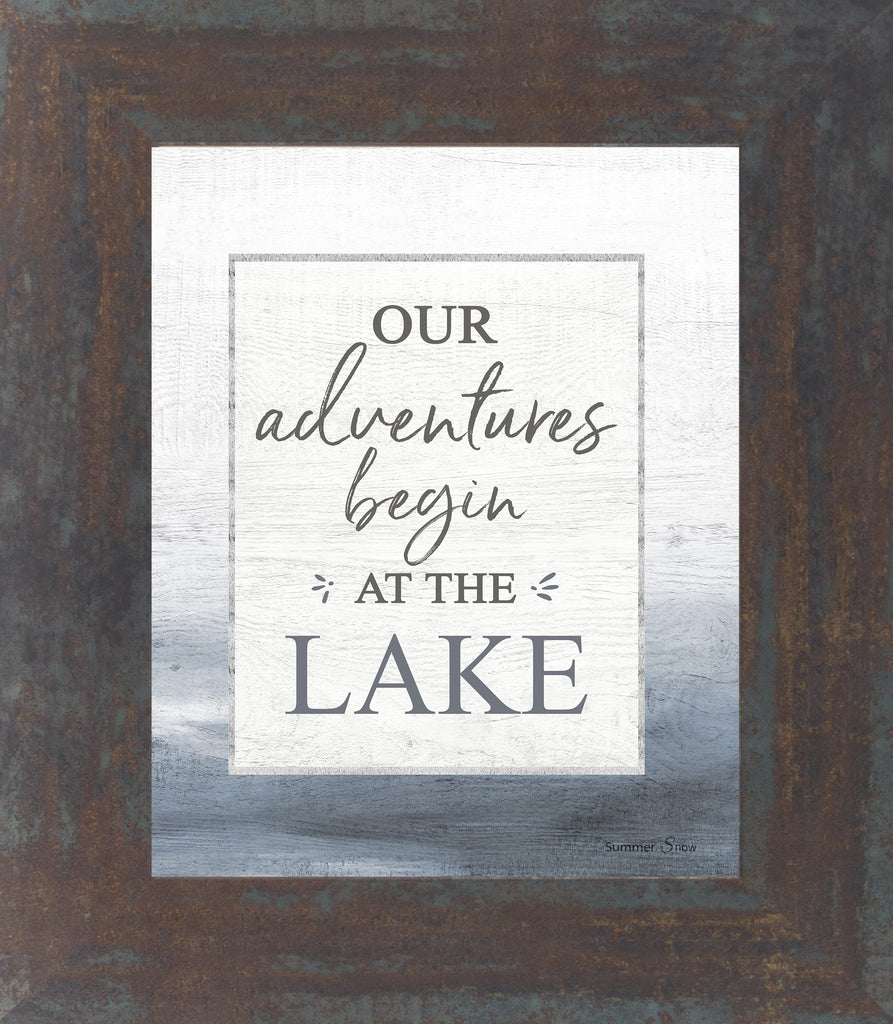 Our Adventures Begin at the Lake by Summer Snow SS51 - Summer Snow Art