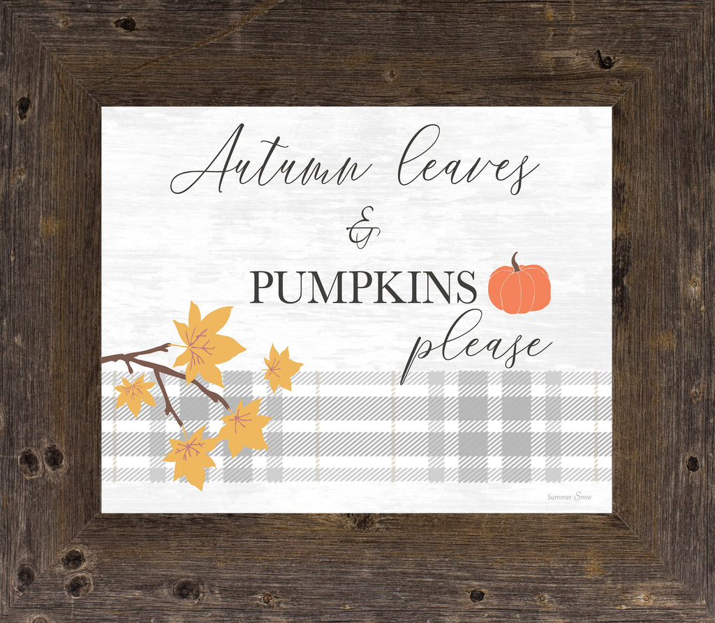 Autumn Leaves and Pumpkins by Summer Snow SS76 - Summer Snow Art