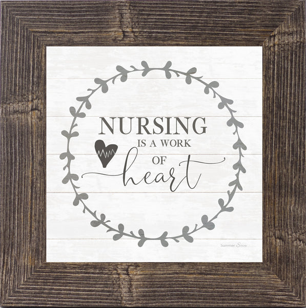 Nursing is a Work of Heart by Summer Snow SS821 - Summer Snow Art