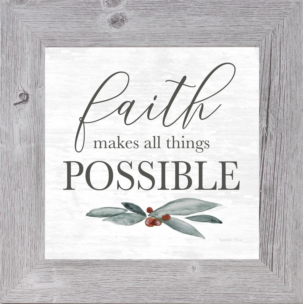 Faith Makes All Things Possible by Summer Snow SS851 - Summer Snow Art