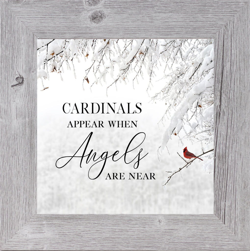 Cardinals Appear When Angels are Near grey by Summer Snow SS857 - Summer Snow Art