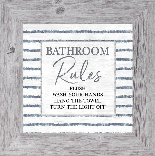 Bathroom Rules by Summer Snow SS864 - Summer Snow Art