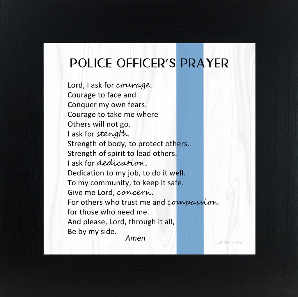 Police Officers Prayer by Summer Snow SS879