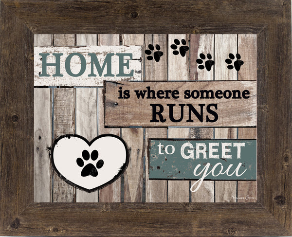 Home is where someone runs to Greet You SS9822 - Summer Snow Art