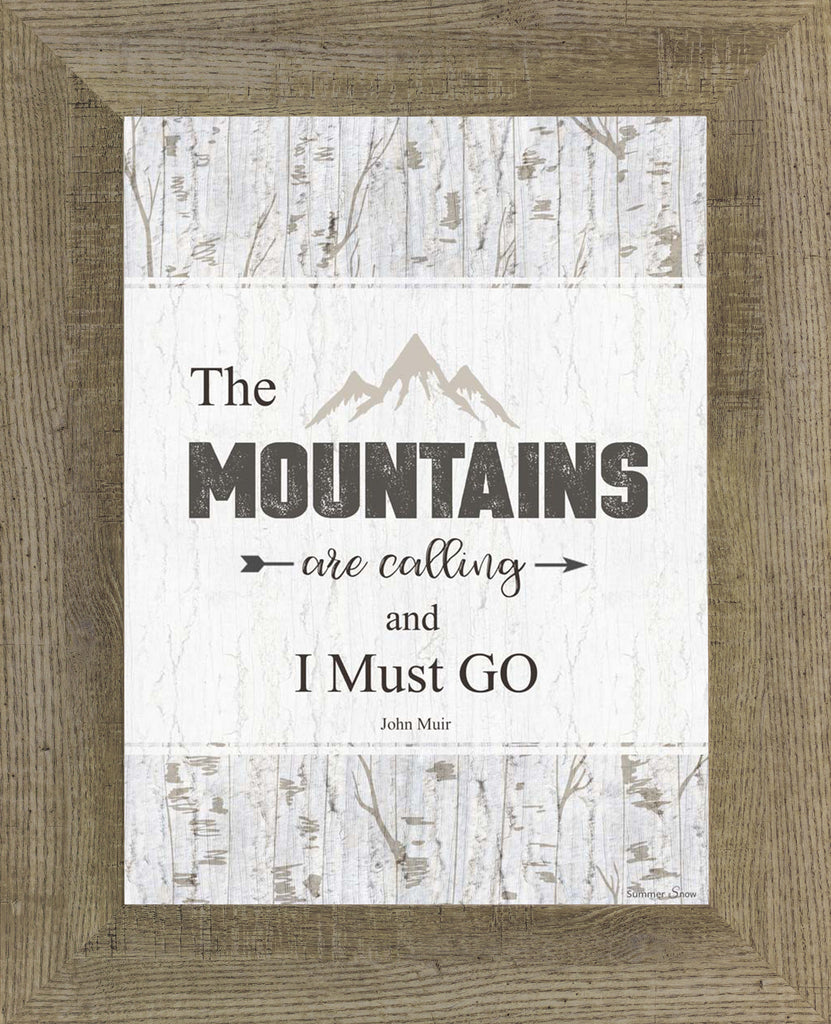 The Mountains are calling and I Must Go SSA060