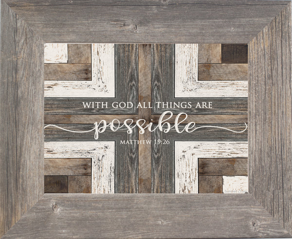 With God All Things Are Possible SSA092 - Summer Snow Art