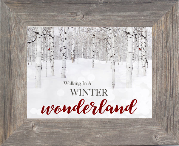 Walking in a Winter Wonderland SSA118 - Summer Snow Art