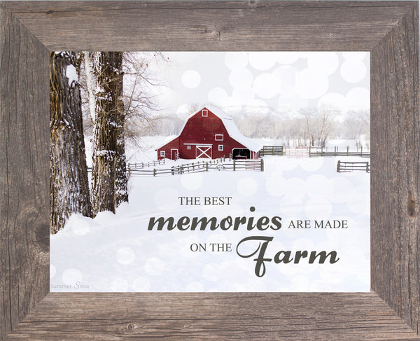 The Best Memories are Made on the Farm SSA124 - Summer Snow Art