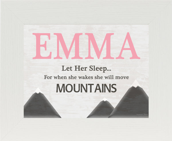 She Will Move Mountains Personalized PER144 - Summer Snow Art