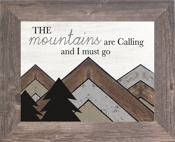 The Mountains are Calling and I Must Go SSA158 - Summer Snow Art