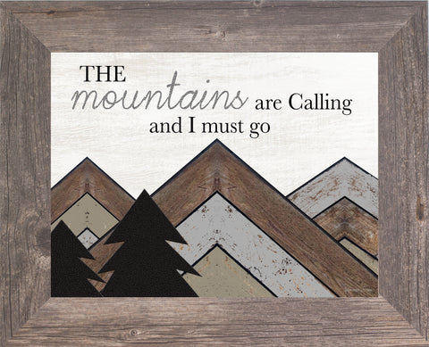 The Mountains are Calling and I Must Go SSA158