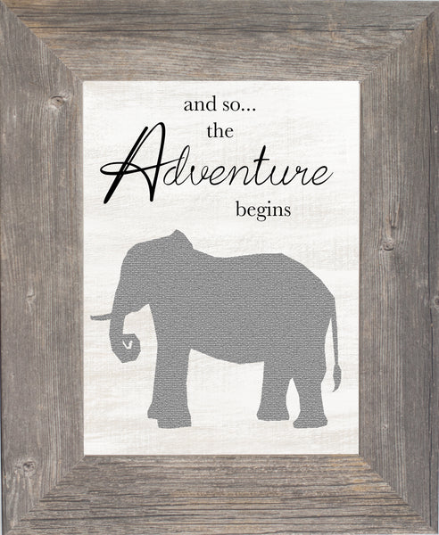 And So...The Adventure Begins Elephant SSA168 - Summer Snow Art