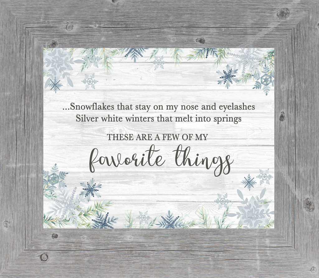 Favorite Things GLITTERED ONLY by Summer Snow SSA16