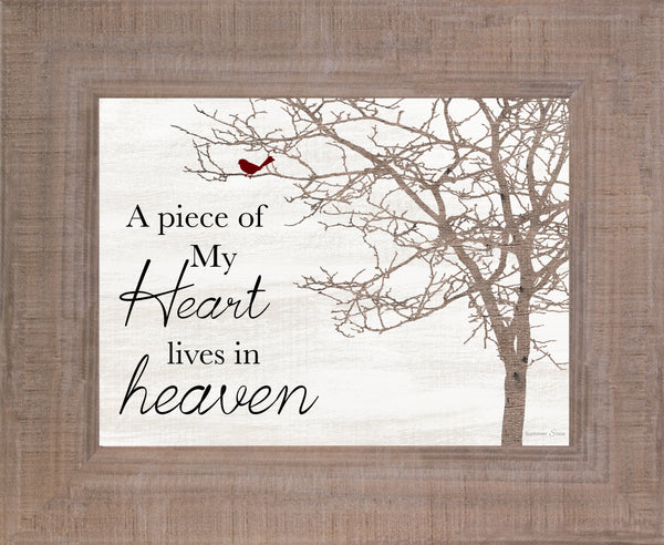 A Piece of My Heart Lives in Heaven SSA179 - Summer Snow Art