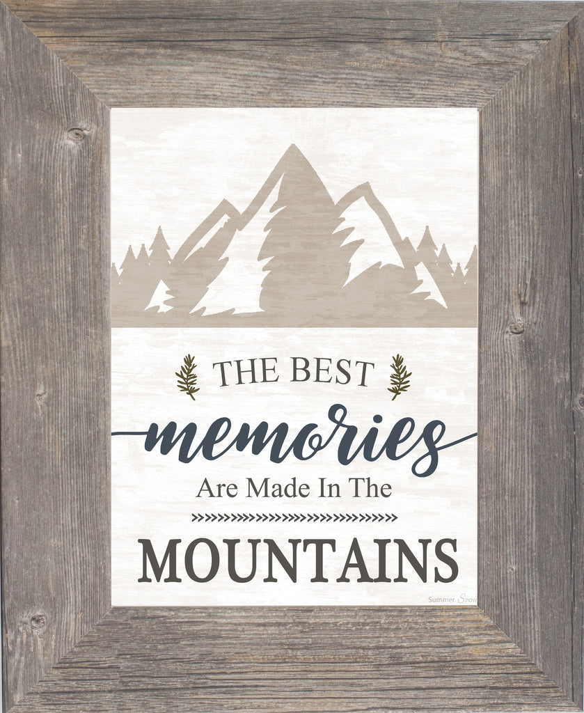 The Best Memories are Made in the Mountains SSA185 - Summer Snow Art