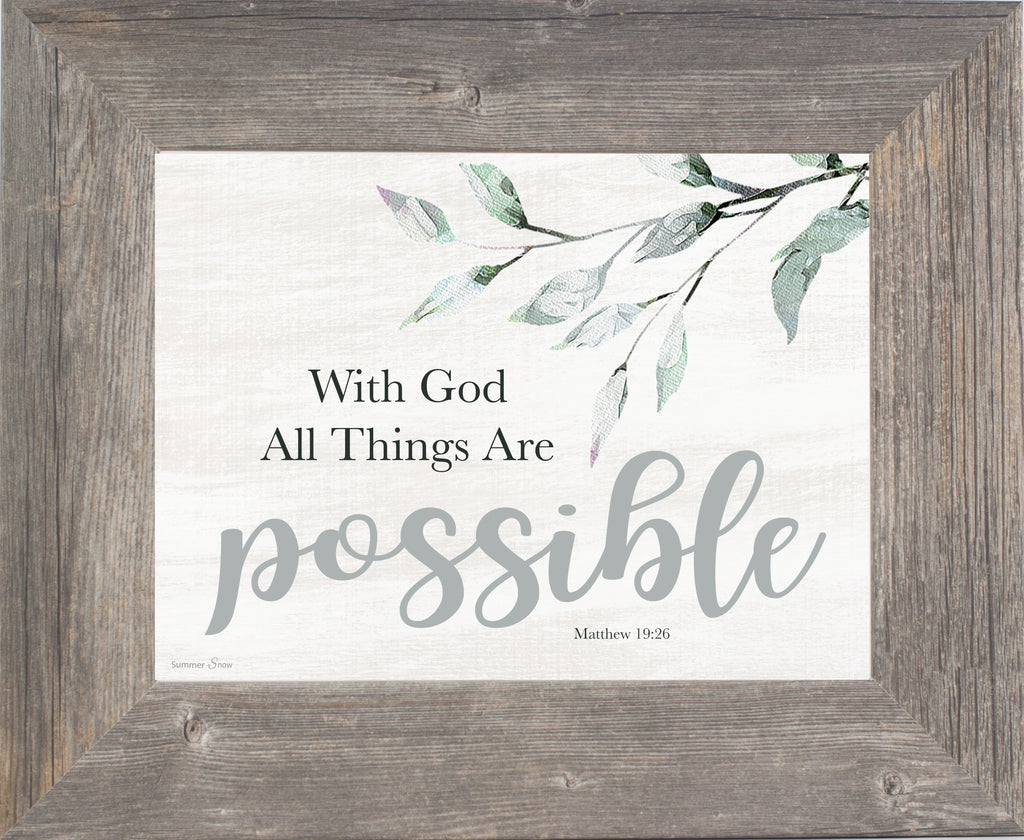 With God All Things Are Possible SSA204 - Summer Snow Art