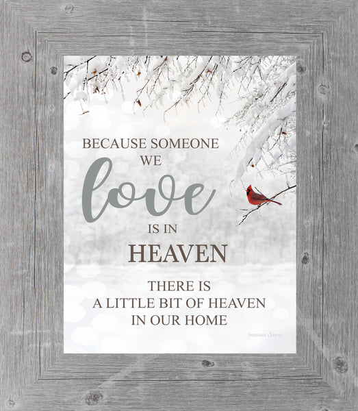 Because Someone We Love is in Heaven SSA23 - Summer Snow Art