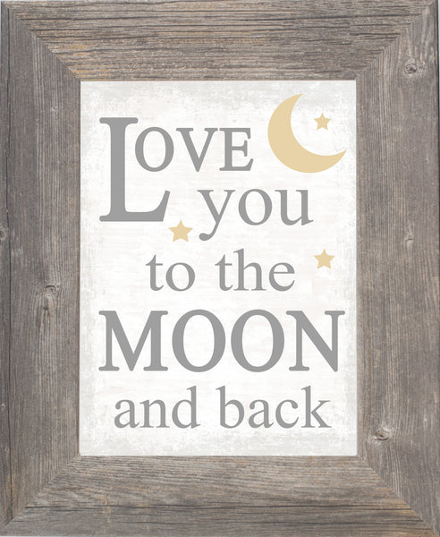 Love You to the Moon and Back SSA613 - Summer Snow Art