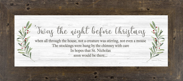 'Twas the Night Before Christmas SSA82412 - Summer Snow Art