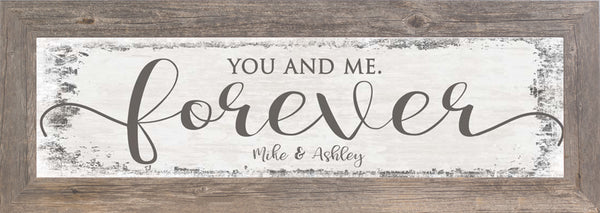 You and Me Forever Personalized SSP010 - Summer Snow Art