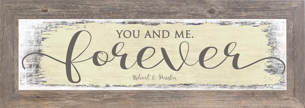 You and Me Forever yellow Personalized SSP011