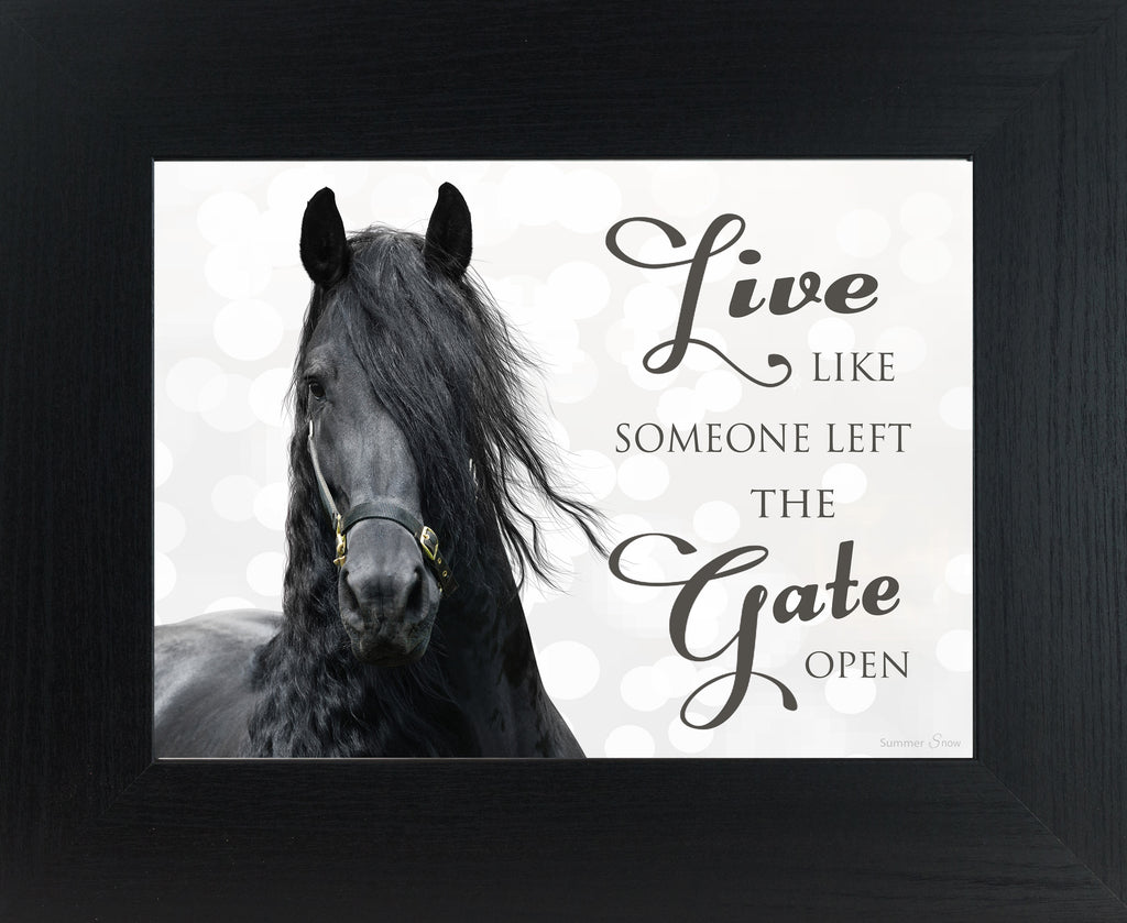 live like someone left the gate open ssw9836 summer snow art