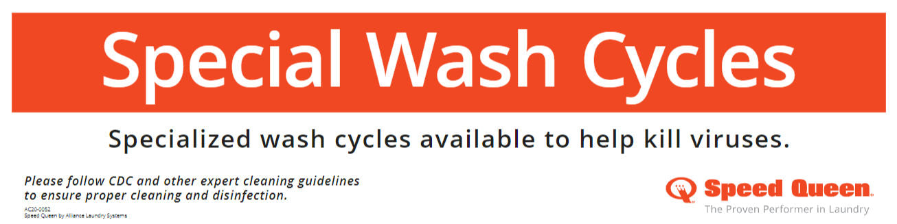 Special Wash Cycles