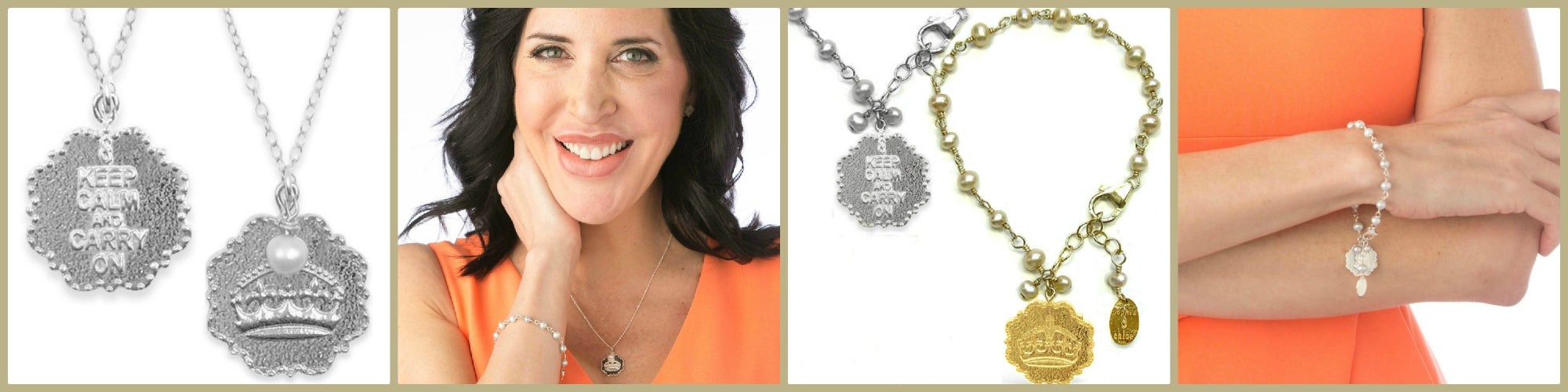 Keep Calm and Carry On necklace and bracelet allison lower epicurean diva