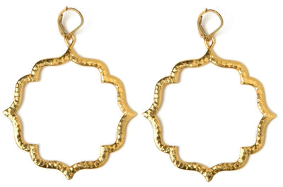 KISS LARGE MOROCCAN EARRINGS ~ gold or silver