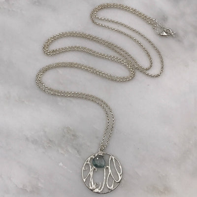 RADY CHILDREN'S HOSPITAL LONG SILVER  MEDALLION NECKLACE