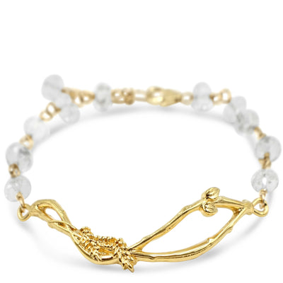 HOME NEST BRACELET in Clear Crystal ~ Gold or Silver