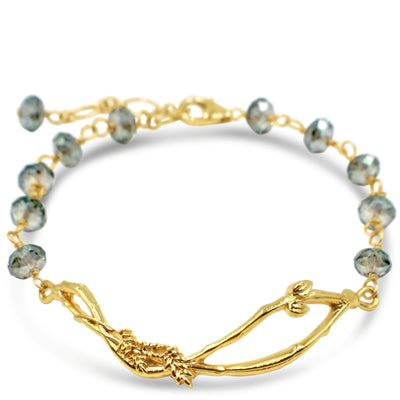 HOME NEST BRACELET in Mint Crystals ~ Gold or Silver