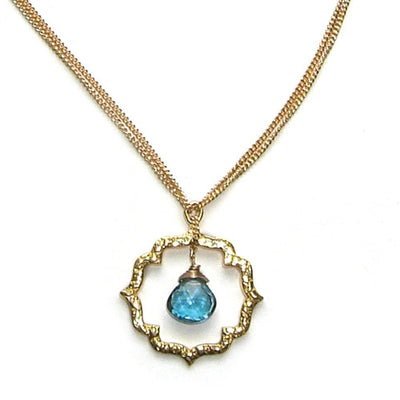 KISS© SMALL LONDON BLUE TOPAZ NECKLACE