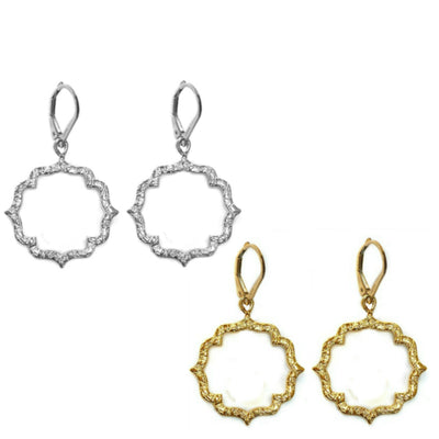 DAINTY KISS MOROCCAN EARRINGS, Gold or Silver