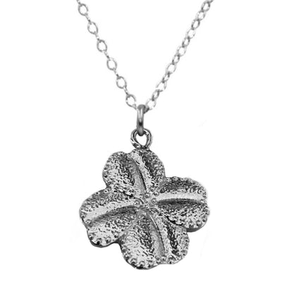 FOUR LEAF CLOVER NECKLACE, gold or silver