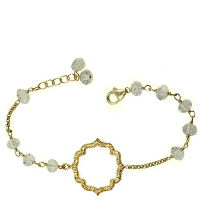MOROCCAN KISS BRACELET, clear crystal in gold or silver