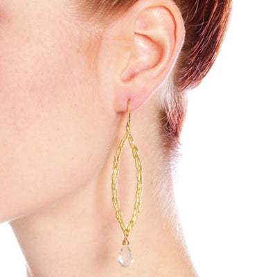 Amor Vincit Omnia PEACE EARRINGS (larger size) ~ Gold or Silver, Assorted Stones & Crystals