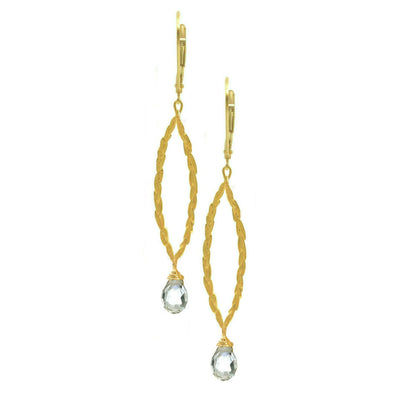 Amor Vincit Omnia PEACE EARRINGS (medium size) ~ gold or silver, assorted stones or crystals