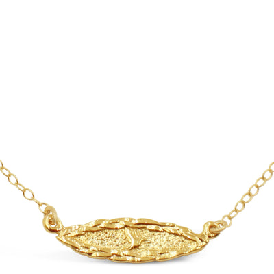 Amor Vincit Omnia Dainty DOVE HORIZONTAL NECKLACE